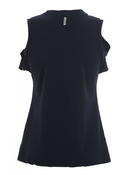 Футболка жен. Sleeveless T-Shirt with Ruffles